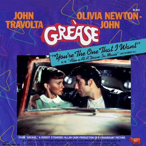 Olivia Newton-John and John Travolta You're The One That I Want cover art