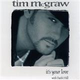 Tim McGraw with Faith Hill It's Your Love cover kunst