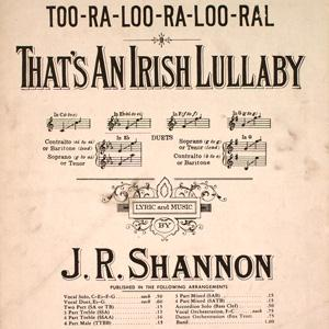 James R. Shannon Too-Ra-Loo-Ra-Loo-Ral (That's An Irish Lullaby) cover art