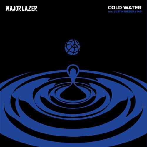 Major Lazer featuring Justin Bieber and MO Cold Water cover art