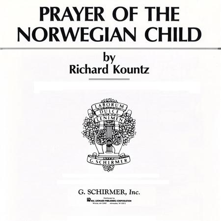 Olaf Trojargson Prayer Of The Norwegian Child cover art