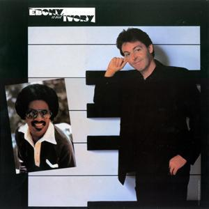 Paul McCartney and Stevie Wonder Ebony And Ivory cover art