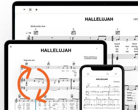 Sheet Music App iOS interface