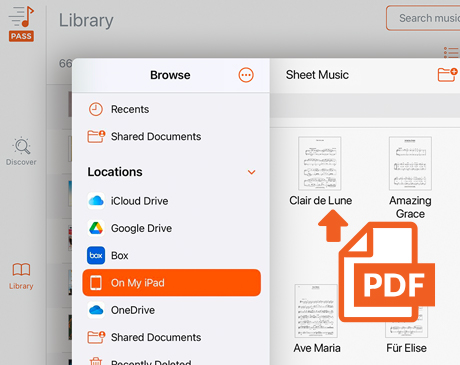 Upload PDFs you already have
