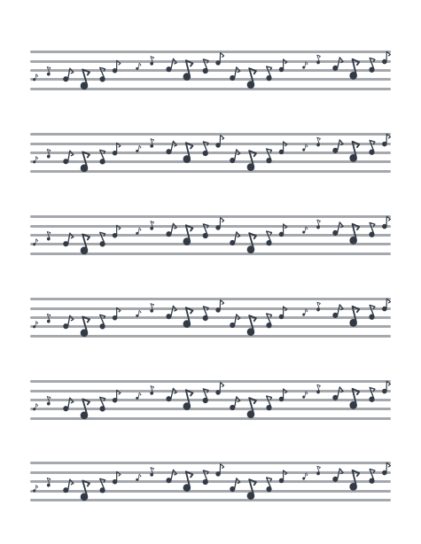 Bryce Canyon - 2nd snare drum Sheet Music