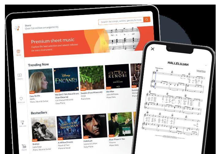 Sheet Music iPad App by Sheet Music Direct