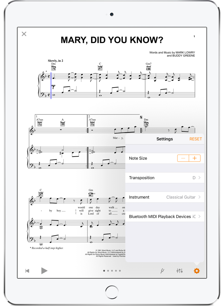 Free Interactive Sheet Music App for iPad | Sheet Music Direct